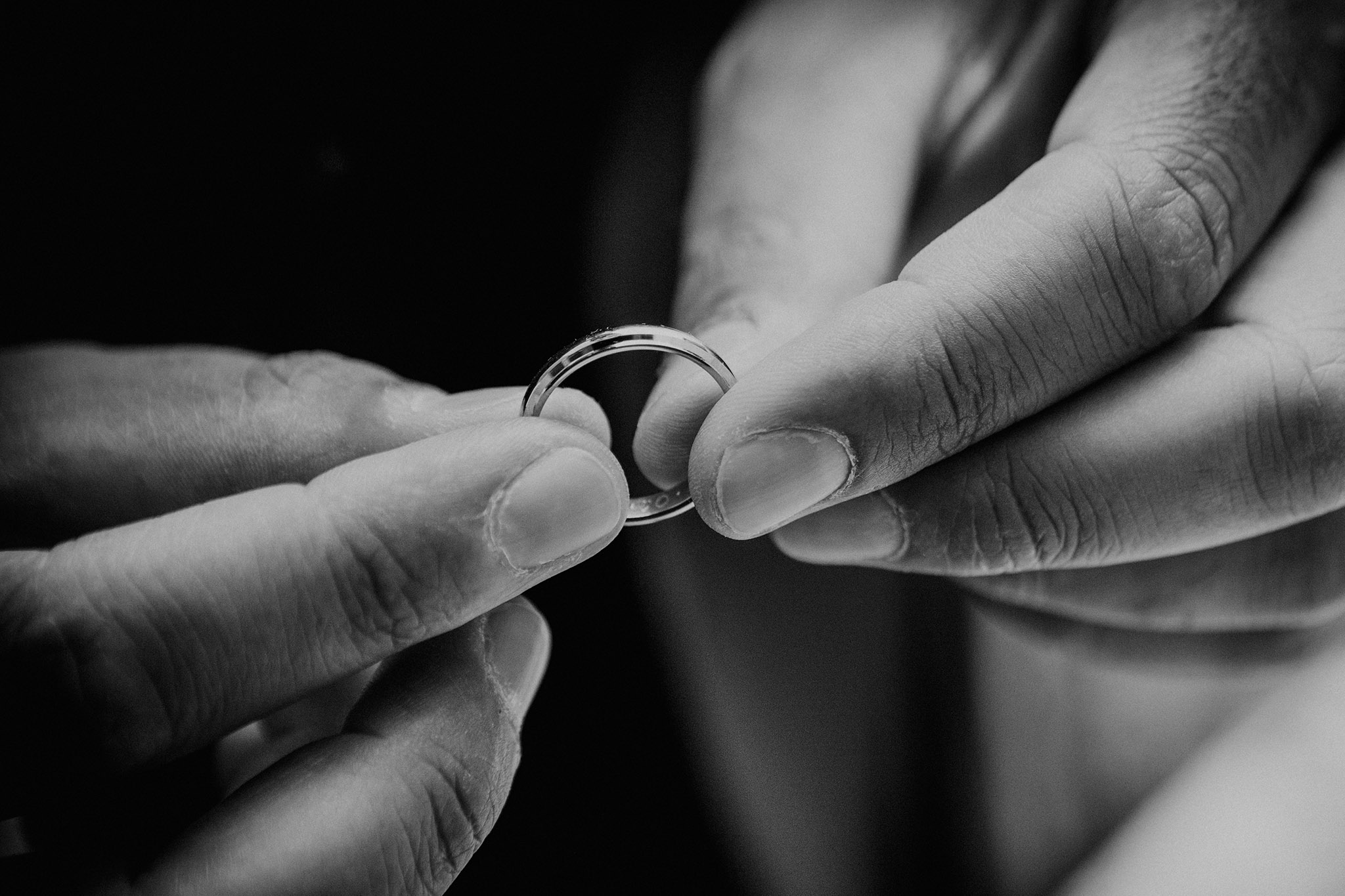wedding ring detail